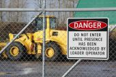 Industrial Warning Sign — Stock Photo