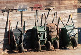 Garden tools Neatly Lined Up — Stock Photo