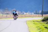 Cyclists Training — Стоковое фото