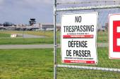 No Trespassing and Airport — Stock Photo