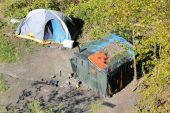 Homeless Encampment — Stock Photo