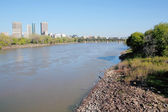 Winnipeg and the Red River — Stock Photo