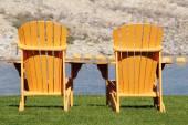 Adirondack or Muskoka Chair — Stock Photo