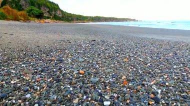 Ocean seascape scenic at punakaiki paparoa national park — Stockvideo