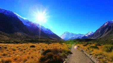 Paysages des vallées d'Aoraki Mount Cook — Vidéo