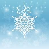 Abstrakt jul bakgrund med snöflingor — Stockvektor