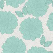 Seamless pattern with flowers . Floral ornament.and-drawn contour lines and strokes. Wedding background. — Vector de stock
