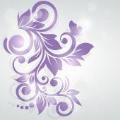 Abstract floral design. Vector illustration. Frozen swirl. — Stock Vector
