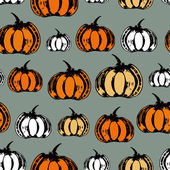 Colorful seamless pattern with pumpkins — Stock Vector