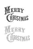 Merry Christmas congratulation text — Stock Vector