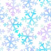 Seamless pattern with falling snowflakes — ストックベクタ