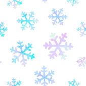 Seamless pattern with falling snowflakes — Stockvector