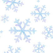 Seamless pattern with falling snowflakes — Vector de stock