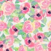 Acquerello motivo floreale — Foto Stock
