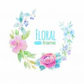 Vector flowers frame — Stock Vector