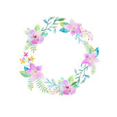 Frame with watercolor flowers — Foto de Stock