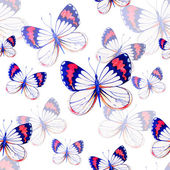 Seamless pattern texture with butterflies — Stock Photo