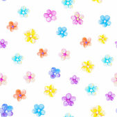 Pattern with beautiful watercolor flowers — Stock Vector
