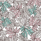 Pattern with beautiful watercolor flowers — Stockvektor