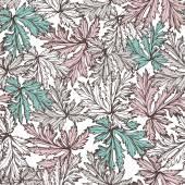 Pattern with beautiful watercolor flowers — Vector de stock