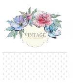 Invitation card with vintage flowers — 图库矢量图片