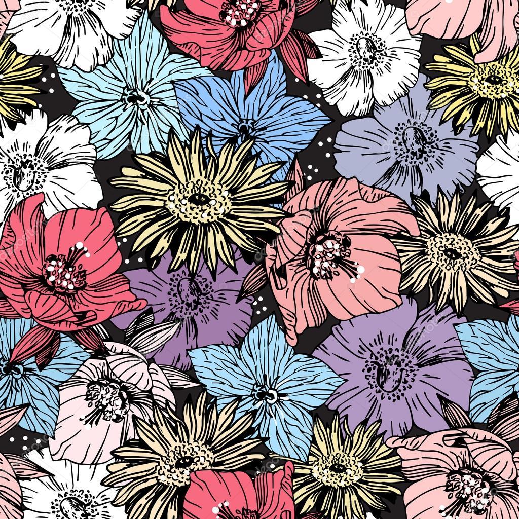 texture motif fleur graphique vintage image vectorielle. Black Bedroom Furniture Sets. Home Design Ideas