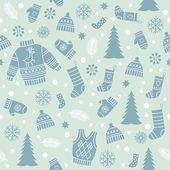 Naadloze kerst patroon — Stockvector