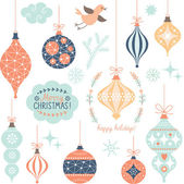 Set of Christmas toys — Stock Vector