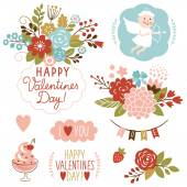 Valentine's day graphic elements — Stock Vector
