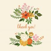 Thank you floral  illustration — Stock Vector