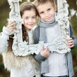 Portrait of little boys and girls i in a Christmas style — Stock Photo #55127947