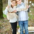 Portrait of little boys and girls i in a Christmas style — Stock Photo #55127971