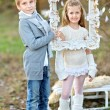 Portrait of little boys and girls i in a Christmas style — Stock Photo #55127995