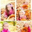 Collection of photos cute smiling little girl — Stock Photo #70460701