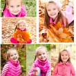 Collection of photos cute smiling little girl — Stock Photo #70460703