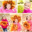 Collection of photos cute smiling little girl — Stock Photo #70460705
