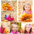 Collection of photos cute smiling little girl — Stock Photo #70460707