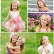 Collection of photos adorable smiling little girls — Stock Photo #71413047