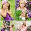 Collection of photos adorable smiling little girls — Stock Photo #71413071