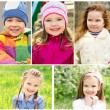 Portrait of kids in spring day — Stock Photo #71413683