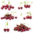 Collection of photos juicy ripe sweet cherry — Stock Photo #72769913
