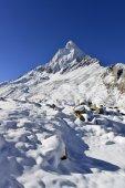 Драматические горы Щивлинг в Западной Garhwal Гималаи, Уттаракханд, Уттаранчал, Индия — Стоковое фото