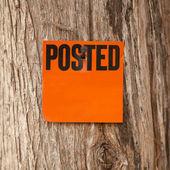 Posted Orange Notice — Stock Photo