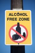 Alcohol Free Zone Sign — Stock Photo