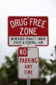 Drug Free Zone Sign — Stock Photo