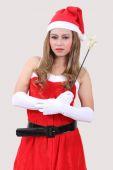 Mulher santa claus — Fotografia Stock