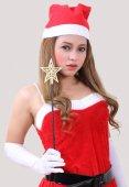 Mulher santa claus — Foto Stock