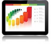 Tablet Chart — Stock Vector
