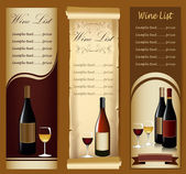 Wine menu — Stock Vector