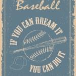 Vintage baseball poster — Stock Vector #65439133